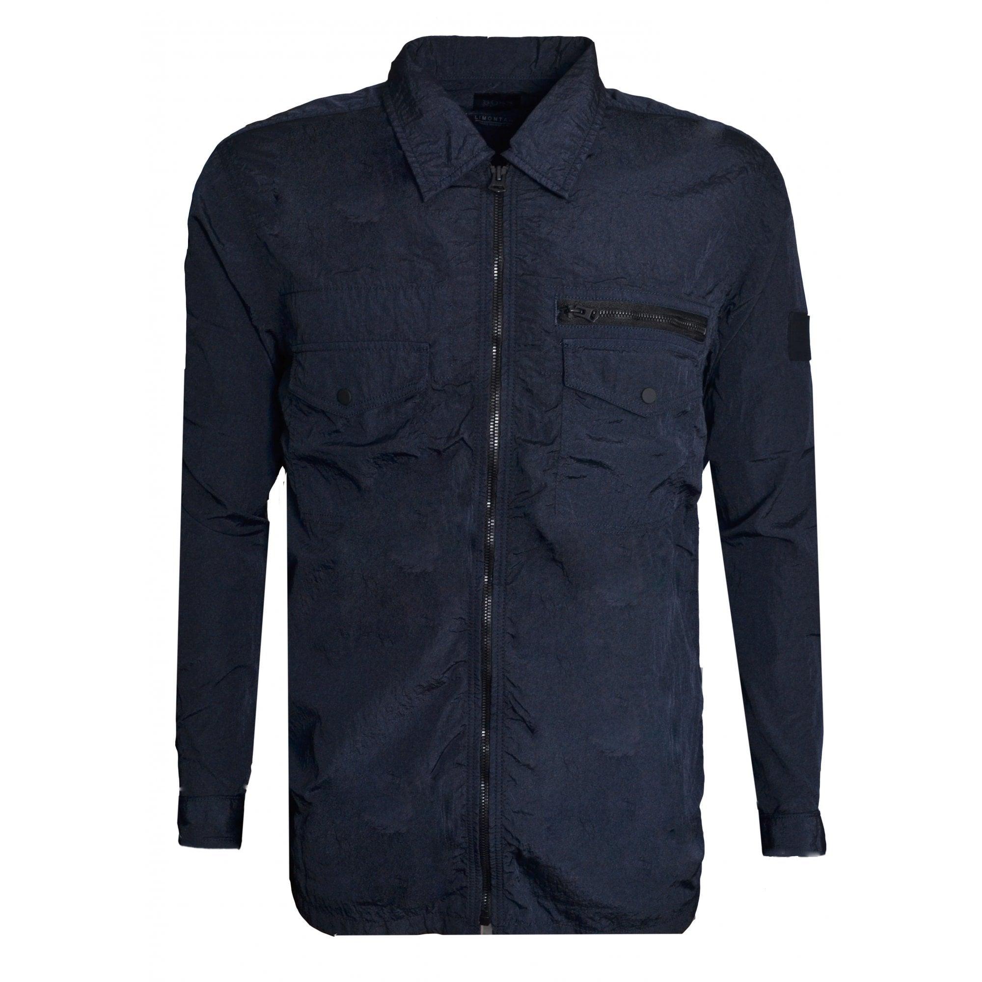 hugo boss men's dark blue lovel zip