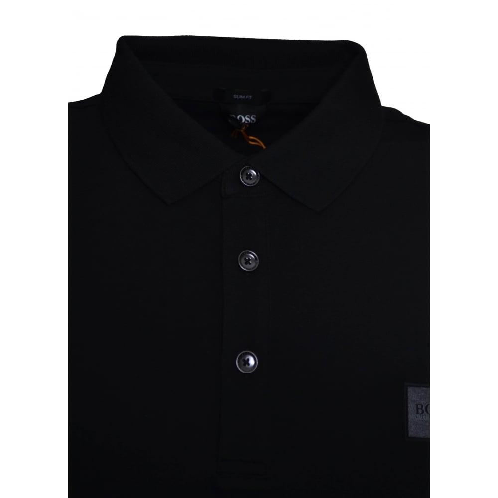 d6e2d5e6 Hugo Boss Men's Passenger Slim Fit Black Polo Shirt