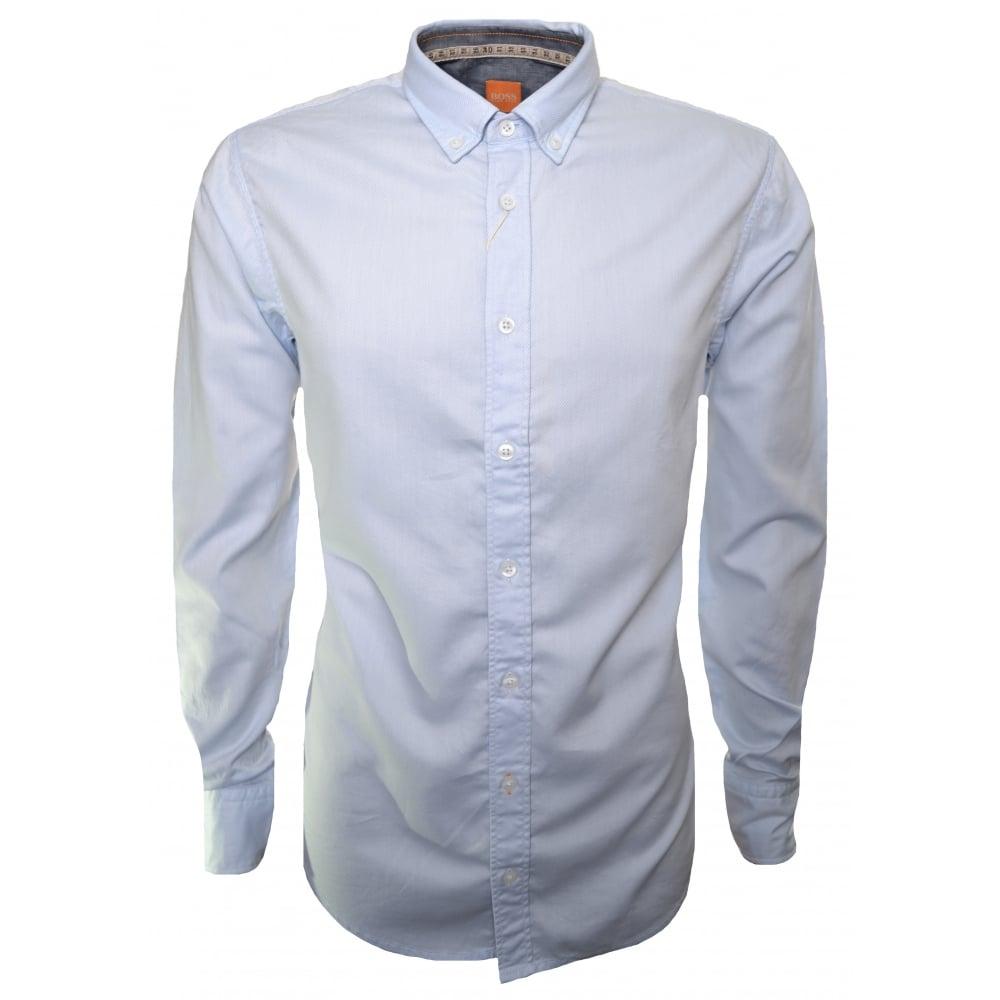 ed77c004 Hugo Boss Men's Slim Fit EdipoE Open Blue Long Sleeve Shirt