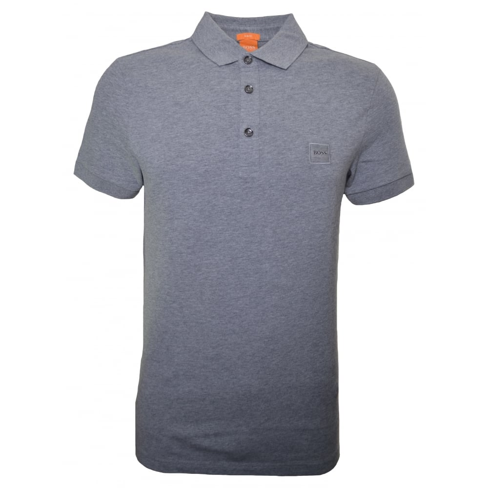 9f6482d84c Hugo Boss Men's Slim Fit Grey Passenger Polo Shirt