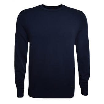 Hugo Boss Casual Men's Akroeged Dark Blue Jumper
