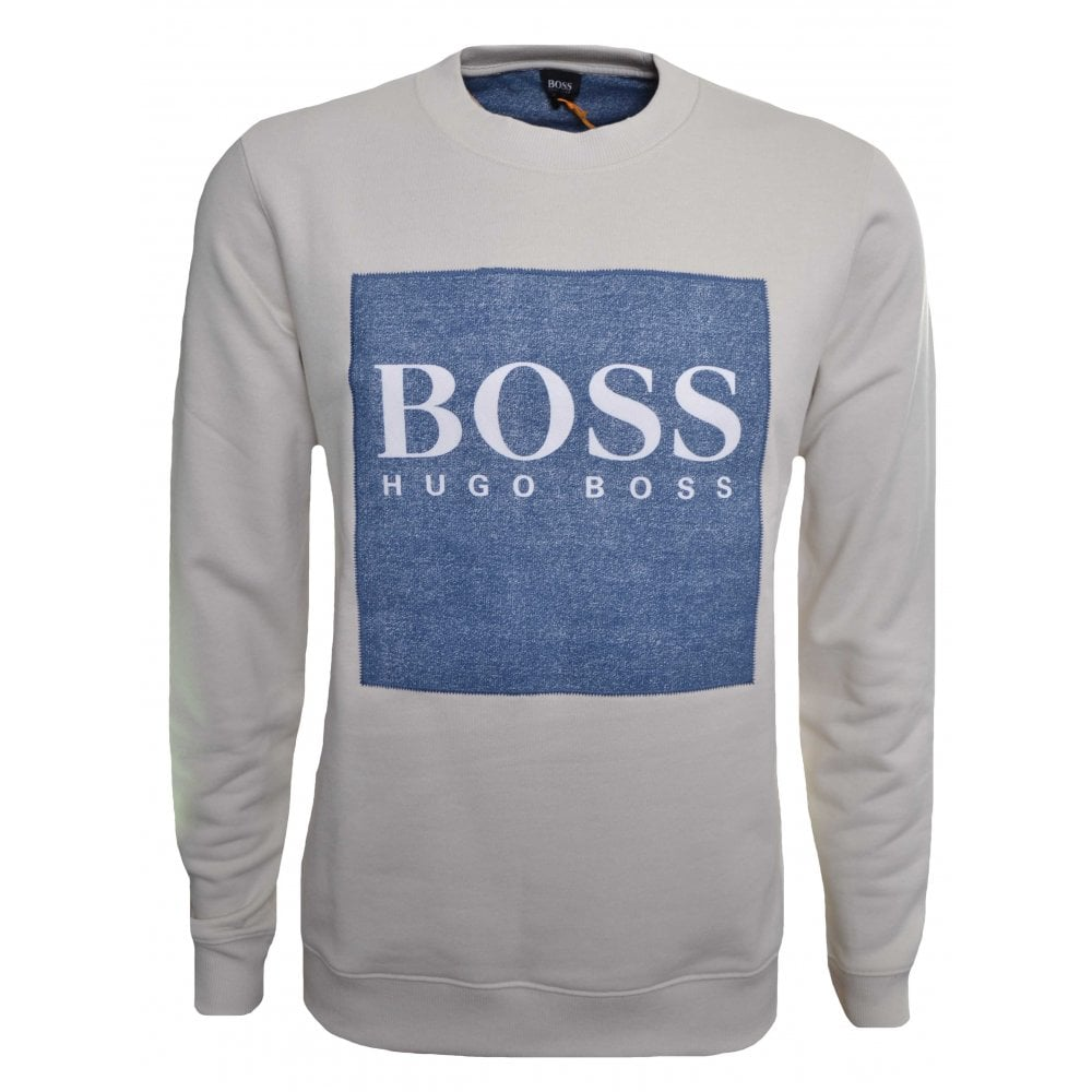 a42693263 Hugo Boss Casual Men's Cream Wedford Sweatshirt