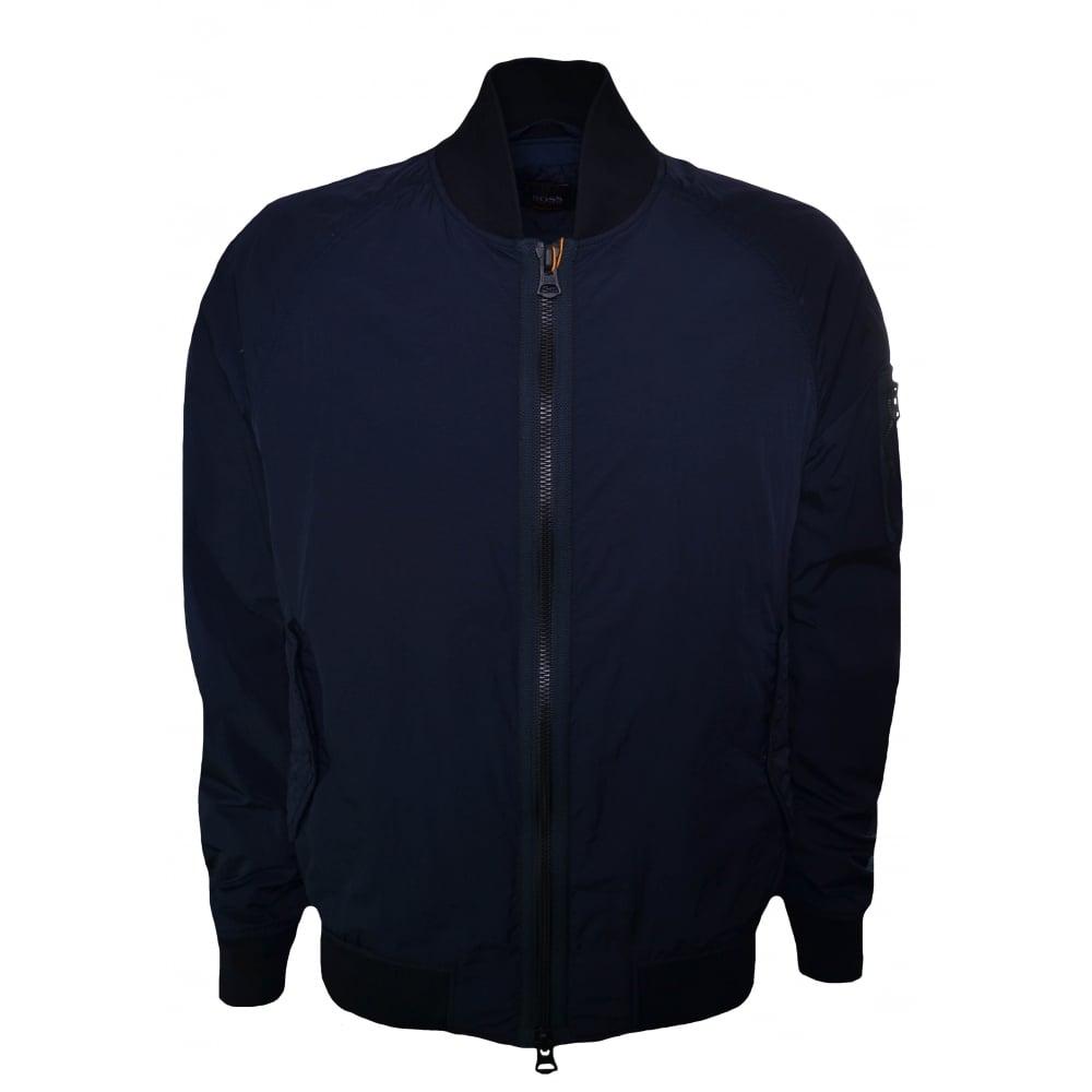 454d5f2bf Hugo Boss Casual Men's Dark Blue Onito-D Bomber Jacket