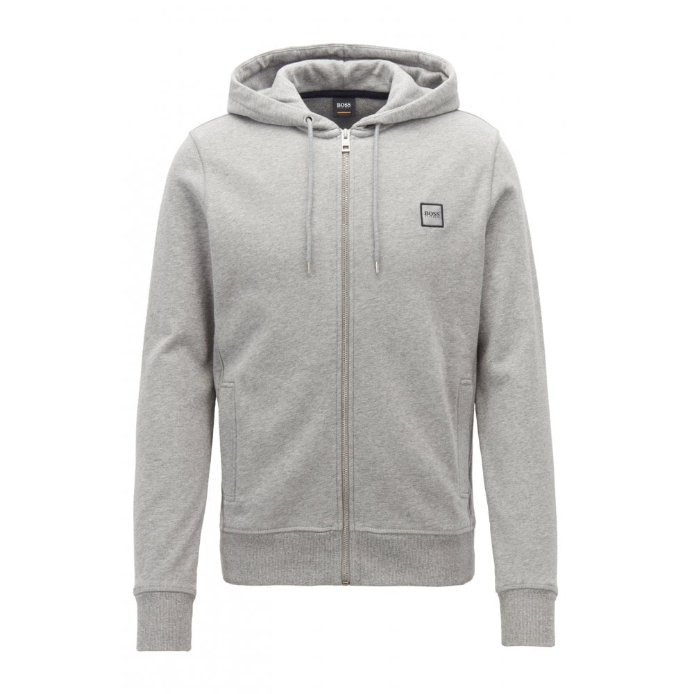 3851771f7 Hugo Boss Casual Men's Grey Znacks Hooded Tracksuit