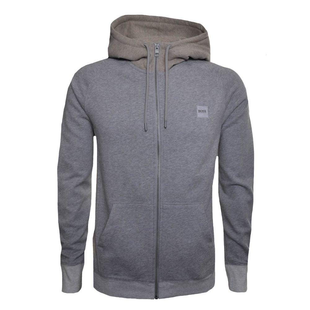 c746724927f2 Hugo Boss Casual Men  039 s Grey Zteen Hooded Zip Through Sweatshirt
