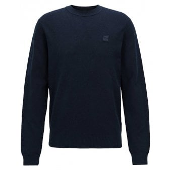 Hugo Boss Casual Men's Kalassy Navy Blue Knitted Jumper