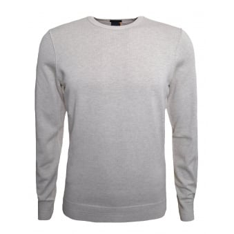 Hugo Boss Casual Men's Kwasiros Slim Fit Beige Jumper