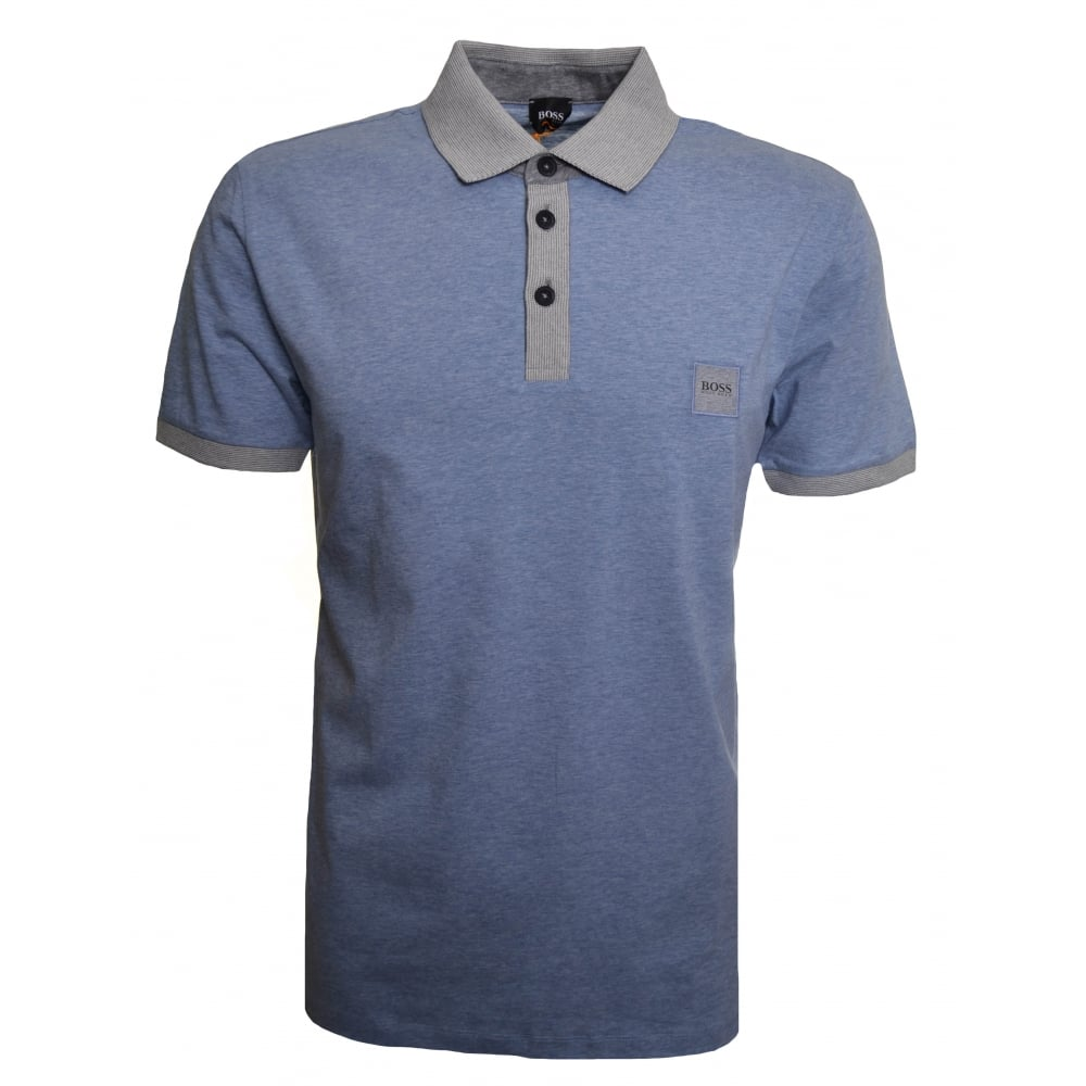 4bd4fa0e6 Hugo Boss Casual Men's Open Blue Pother Polo Shirt