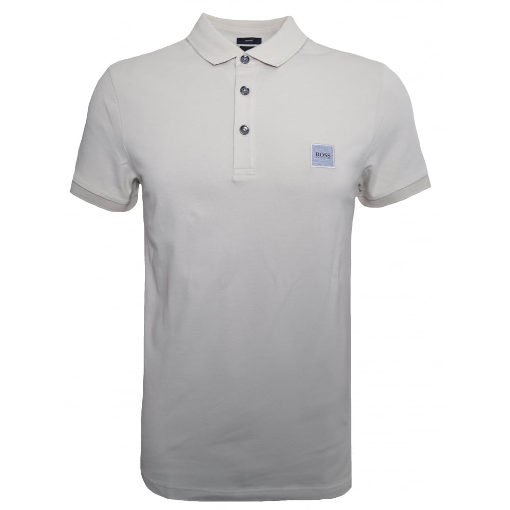 93dfb5e06d Hugo Boss Casual Men's Passenger Slim Fit Beige Polo Shirt