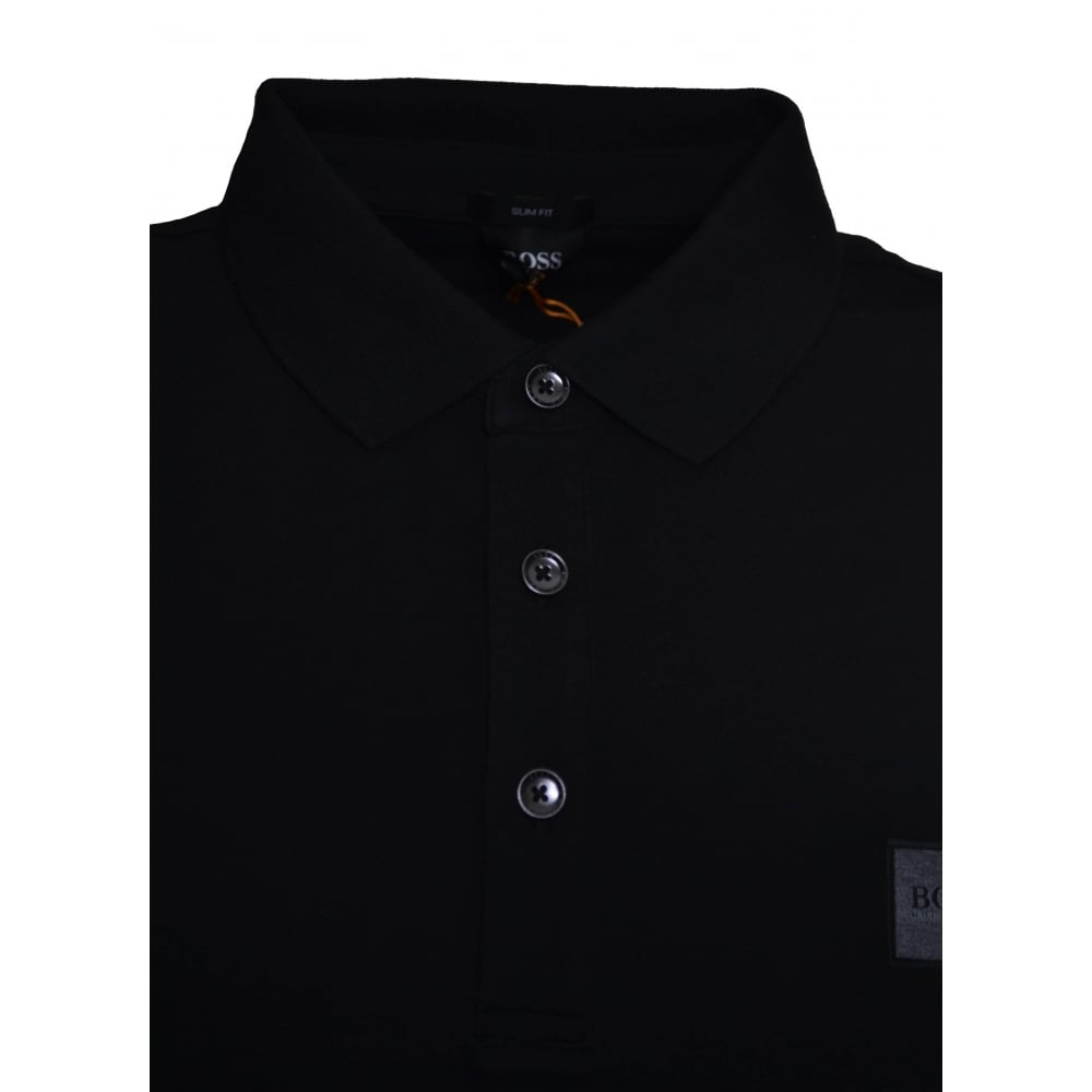 d52e2b8d3 Hugo Boss Casual Men's Passenger Slim Fit Black Polo Shirt