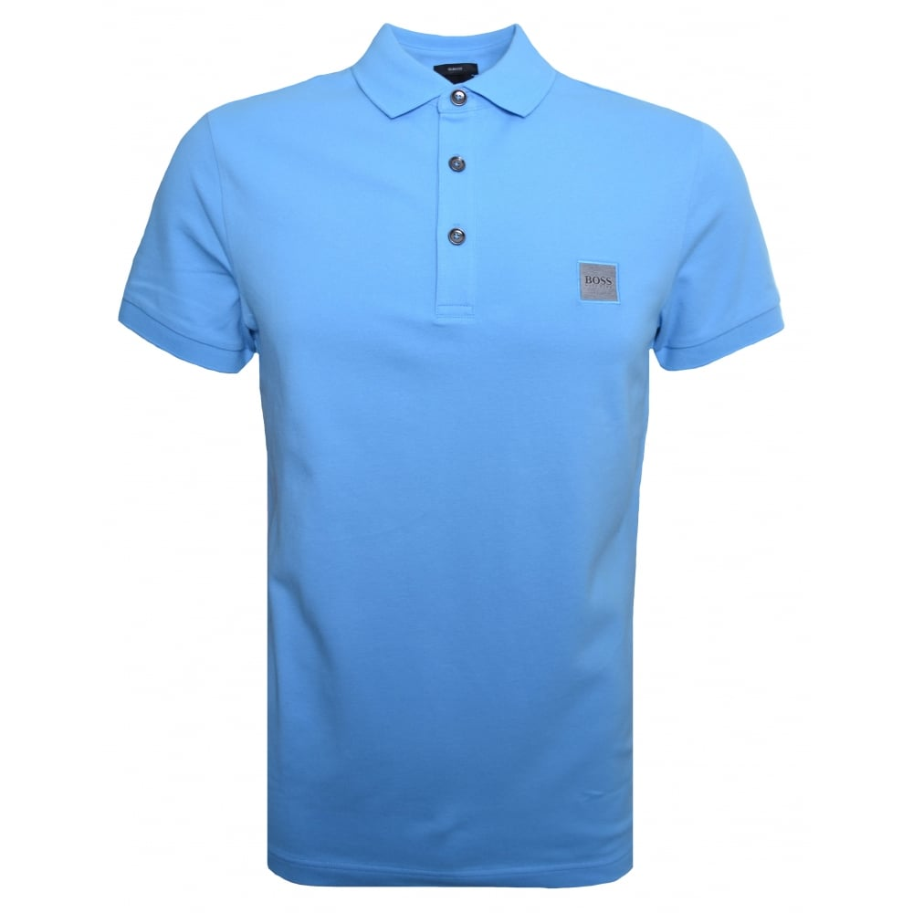 35fe16d32 Hugo Boss Casual Men's Passenger Slim Fit Blue Polo Shirt