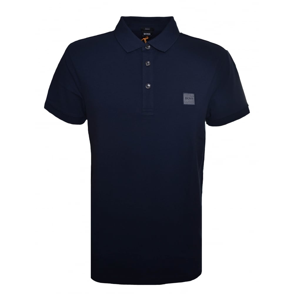 5f066cf2c872 Hugo Boss Casual Men's Passenger Slim Fit Dark Blue Polo Shirt