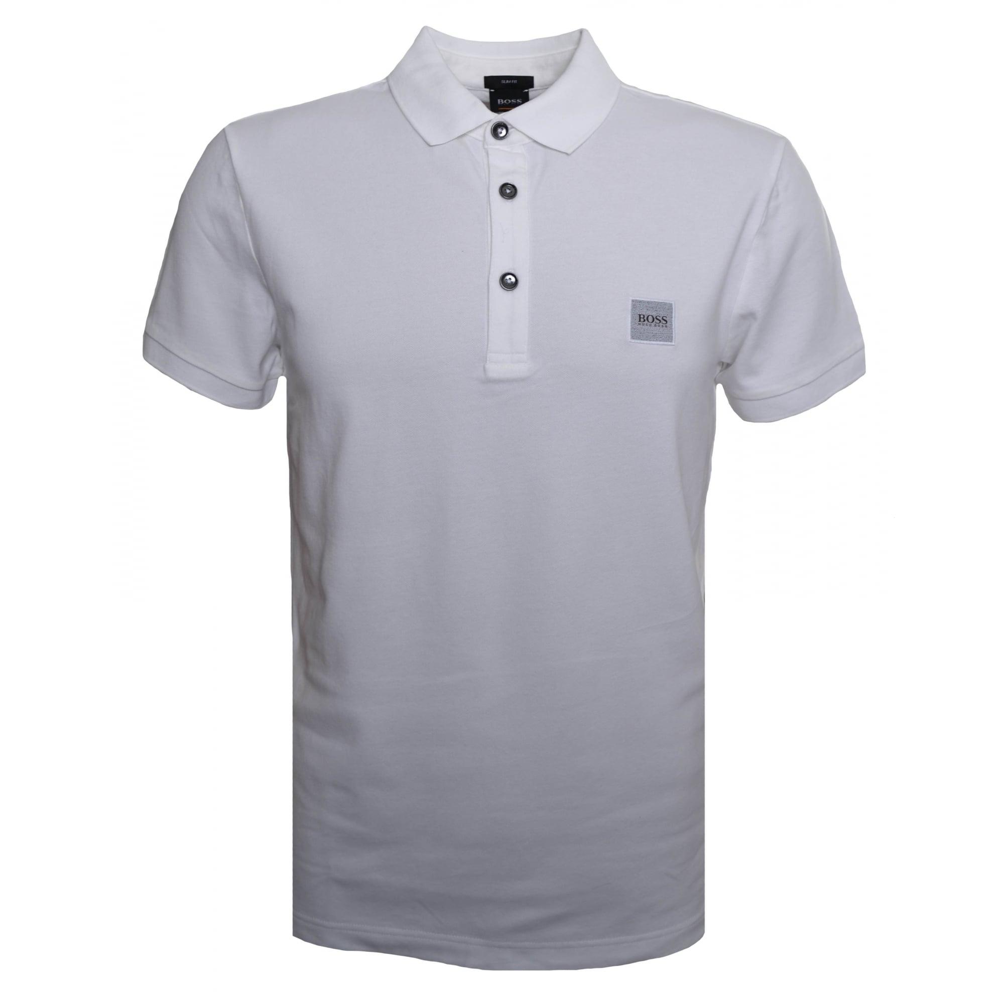 Hugo Boss Casual Hugo Boss Casual Men's Passenger Slim Fit White Polo Shirt