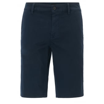 Hugo Boss Casual Men's Slim Fit Dark Blue Chino Shorts
