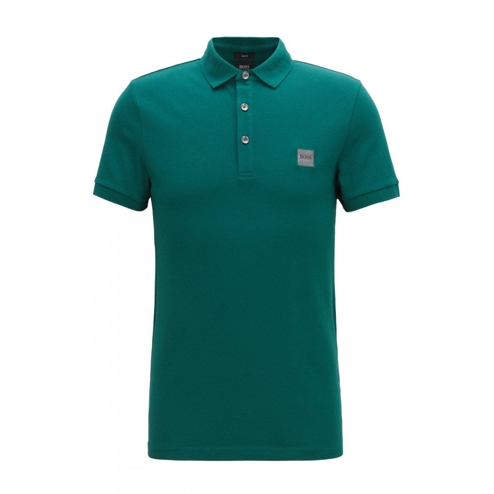 19f70f756 Hugo Boss Casual Men's Slim Fit Green/Blue Passenger Polo Shirt