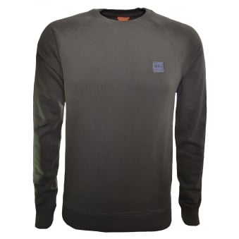 d894a0ea2 Hugo Boss Casual Men's Slim Fit Khaki Sweatshirt