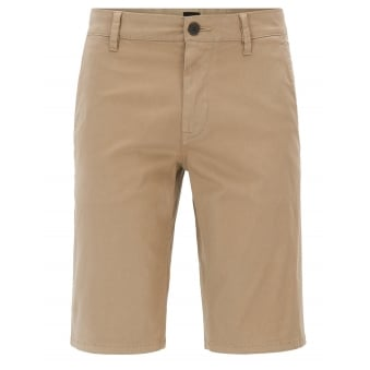 Hugo Boss Casual Men's Slim Fit Medium Beige Chino Shorts