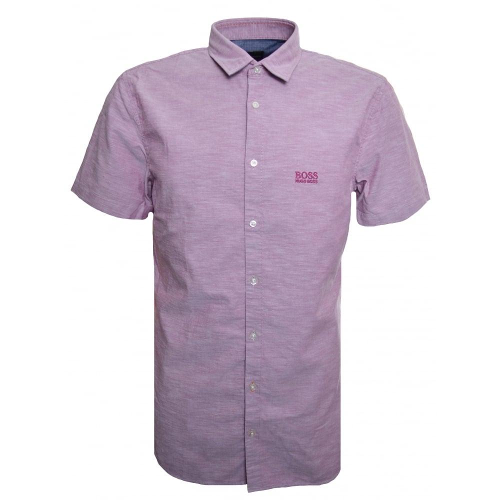 738ca94eb Hugo Boss Casual Men's Slim Fit Pink Cattitude_1 Short Sleeved Shirt