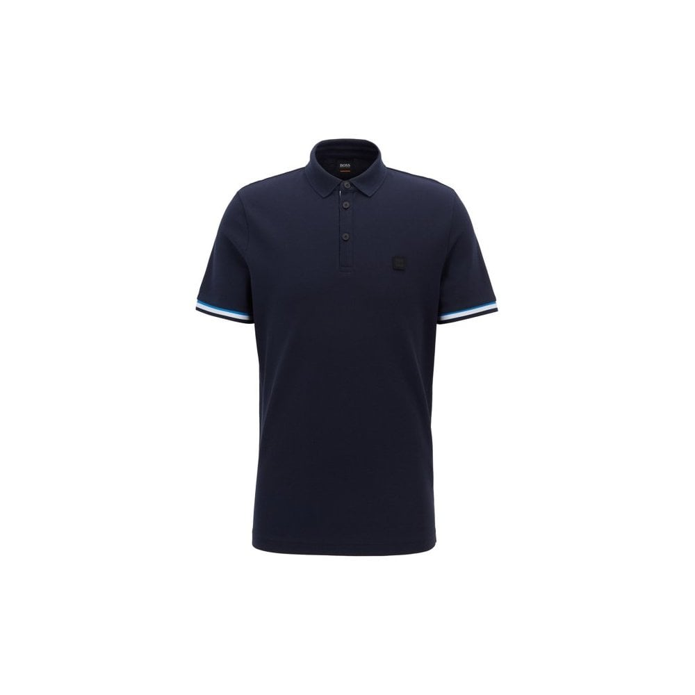 12654ab8 hugo boss dark blue printcat polo shirt