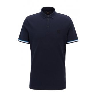 43daf7a0 Hugo Boss Dark Blue Printcat Polo Shirt