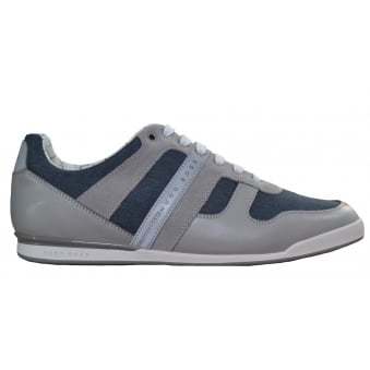 Hugo Boss Green Men's Arkansas_Lowp_Nych Open Grey Trainers