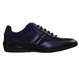 Hugo Boss Green Men's Black Space_Lowp_Nyme Trainers