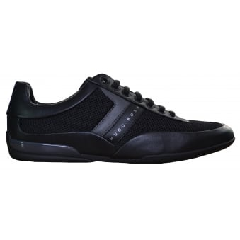 Hugo Boss Green Men's Black Space Lowp Syme Trainers