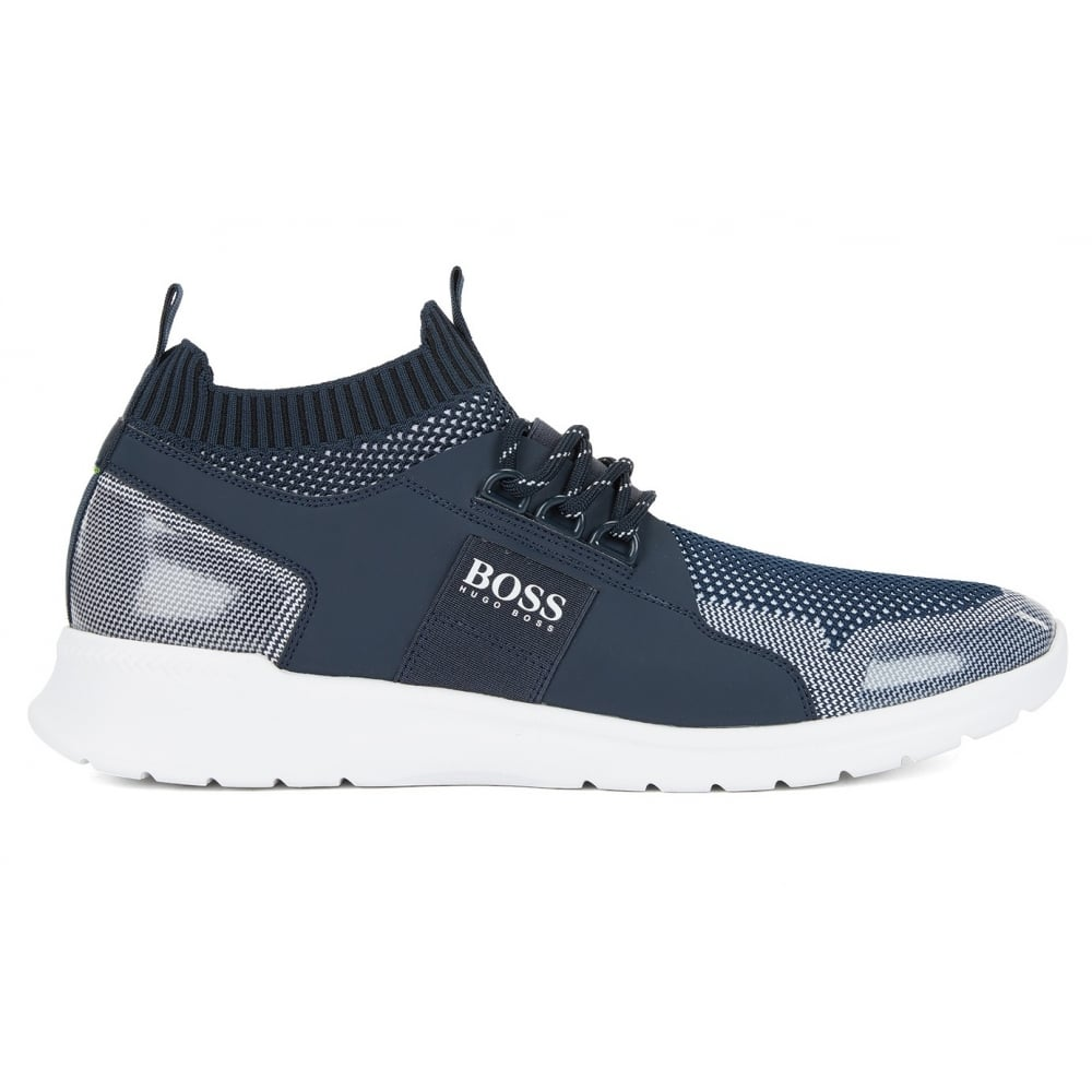 d947ded2be61ac Hugo Boss Green Men's Dark Blue Extreme_Runn_Knit Trainers