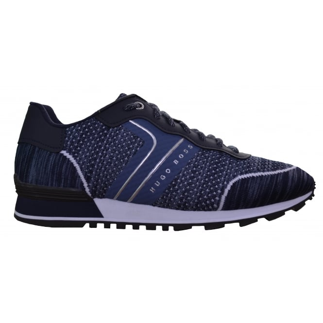 Hugo Boss Footwear Hugo Boss Green Men's Dark Blue Parkour_Runn_Sykn Trainers