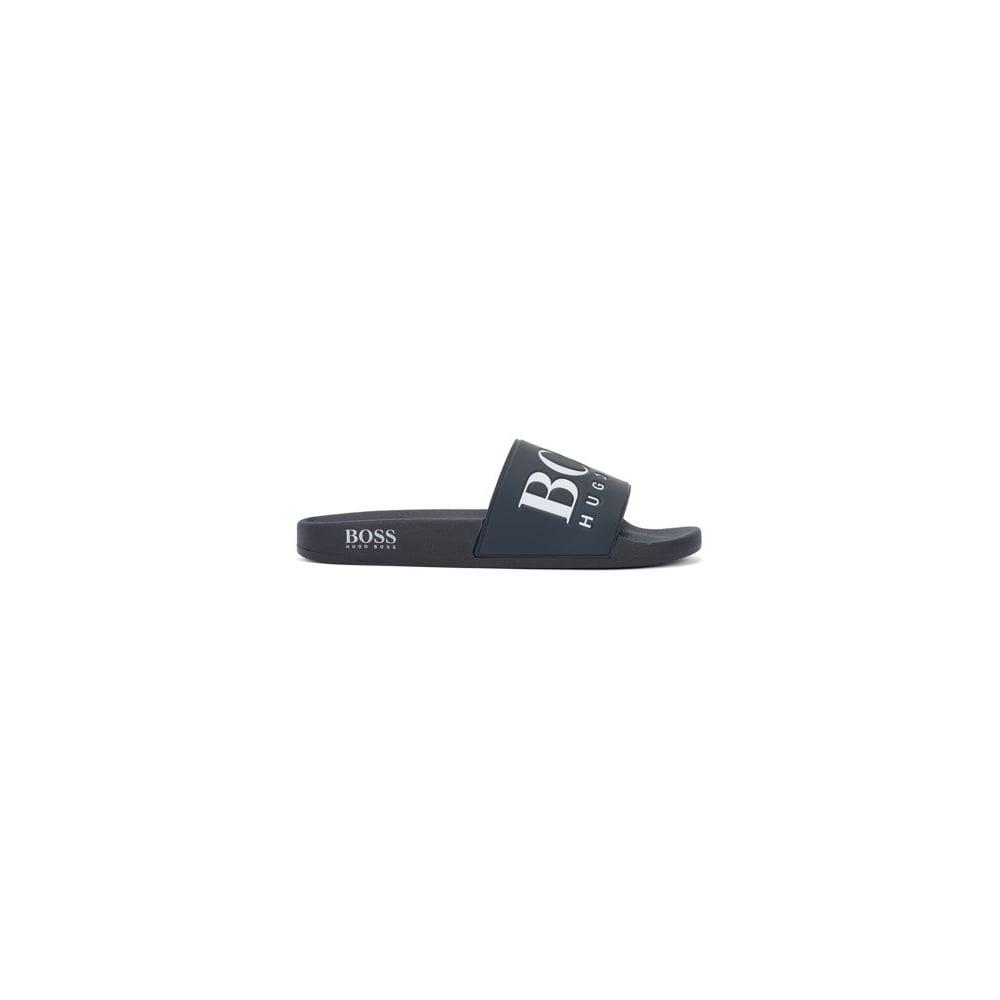 cd6df3ee2125 Hugo Boss Green Men  039 s Dark Blue Slider Sandals