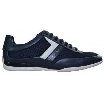 Hugo Boss Green Men's Dark Blue Space Lowp Syme Trainers