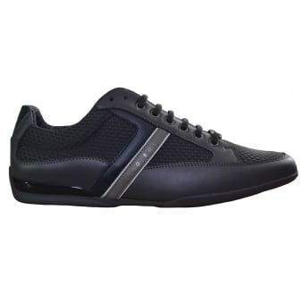Hugo Boss Green Men's Dark Grey Space_Lowp_Neem Trainers