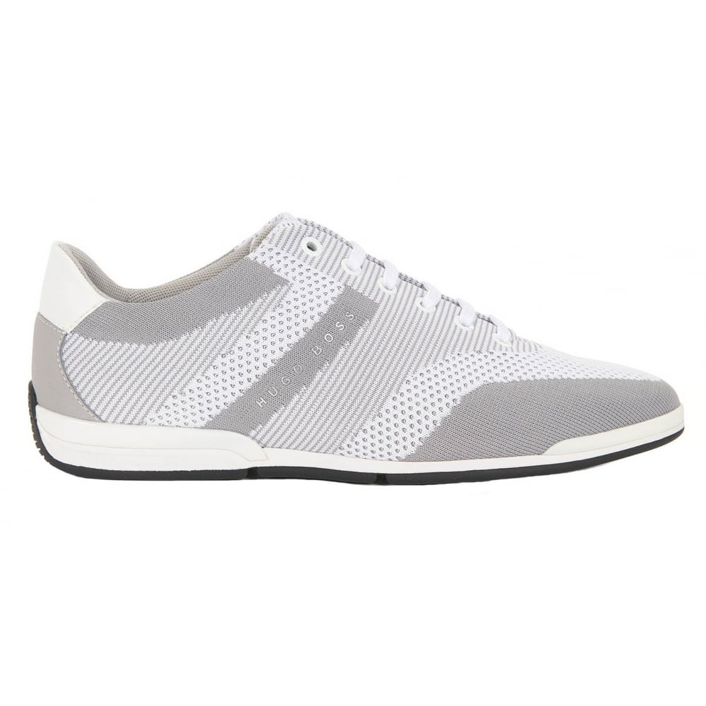 100% top quality best prices men/man Hugo Boss Footwear Hugo Boss Green Men's Light/Pastel Grey Saturn_Lowp_Knit  Trainers