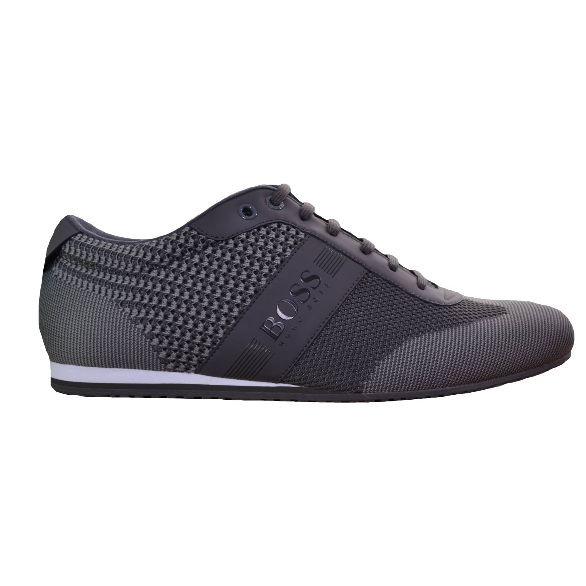 hugo boss mens medium grey trainers
