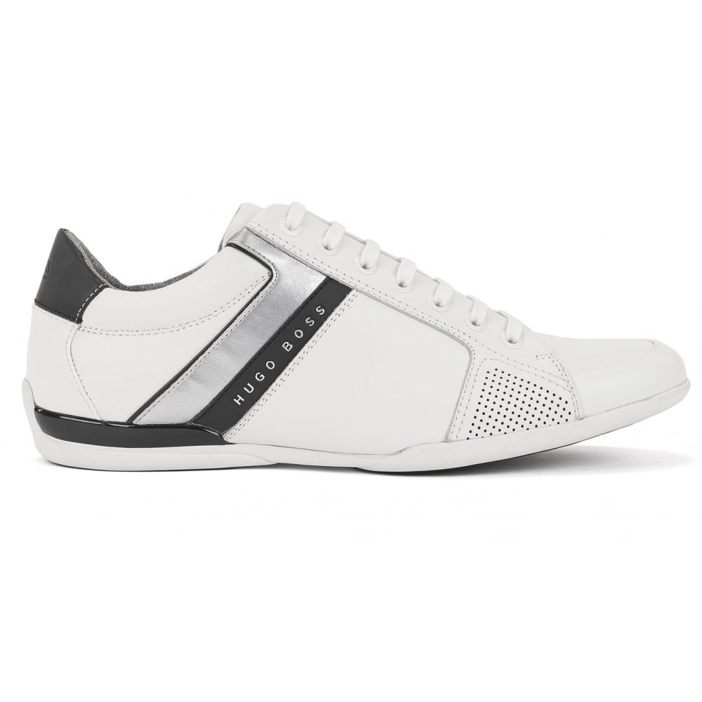 Hugo Boss Green Men's Space_Lowp_Lux White Trainers
