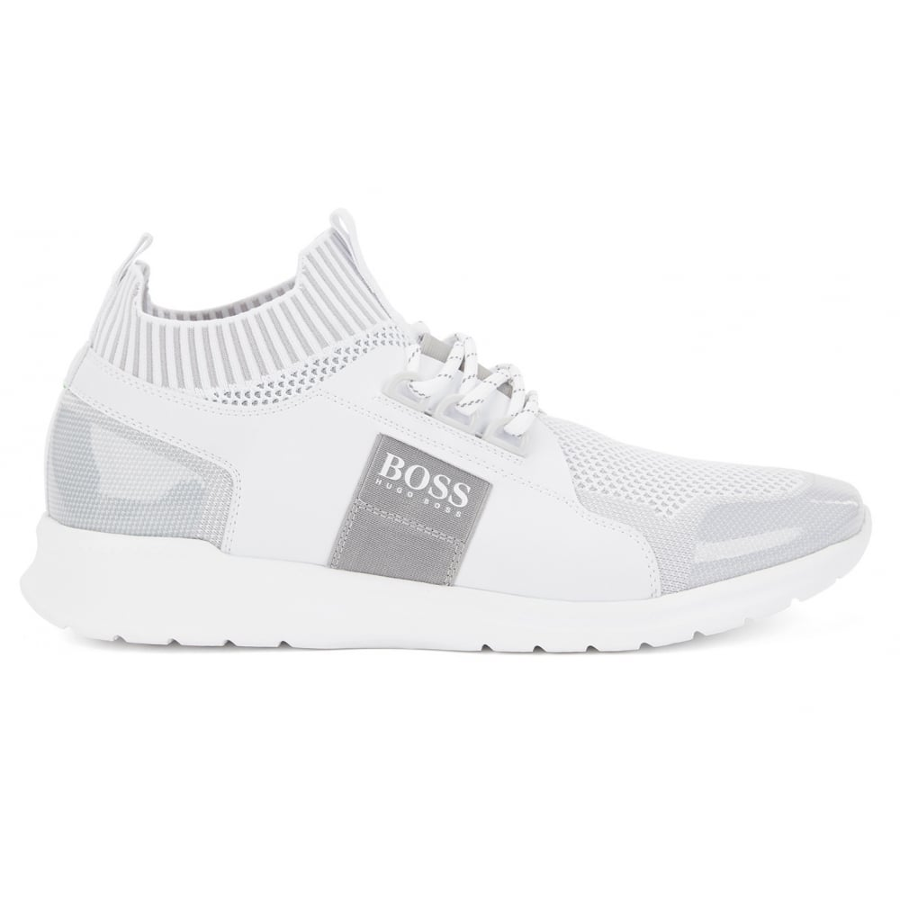 purchase newest diverse styles purchase newest Hugo Boss Footwear Hugo Boss Green Men's White Extreme_Runn_Knit Trainers