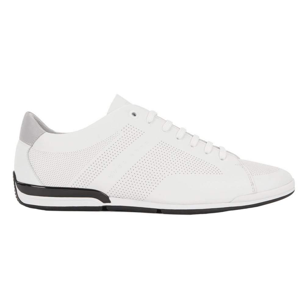 top quality newest selection new arrive Hugo Boss Footwear Hugo Boss Green Men's White Saturn_Lowp_Lux Trainers