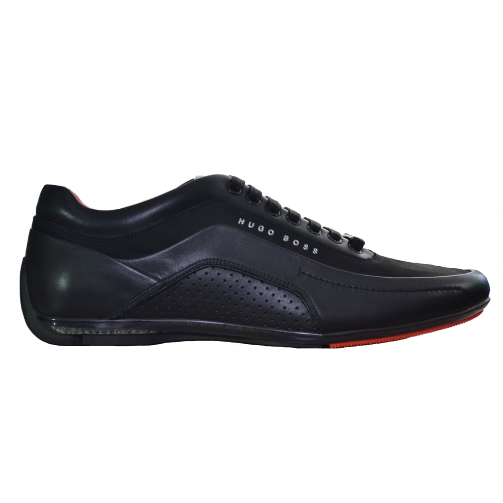 hot products newest where can i buy Hugo Boss Footwear Hugo Boss Men's Black HB Racing Trainers