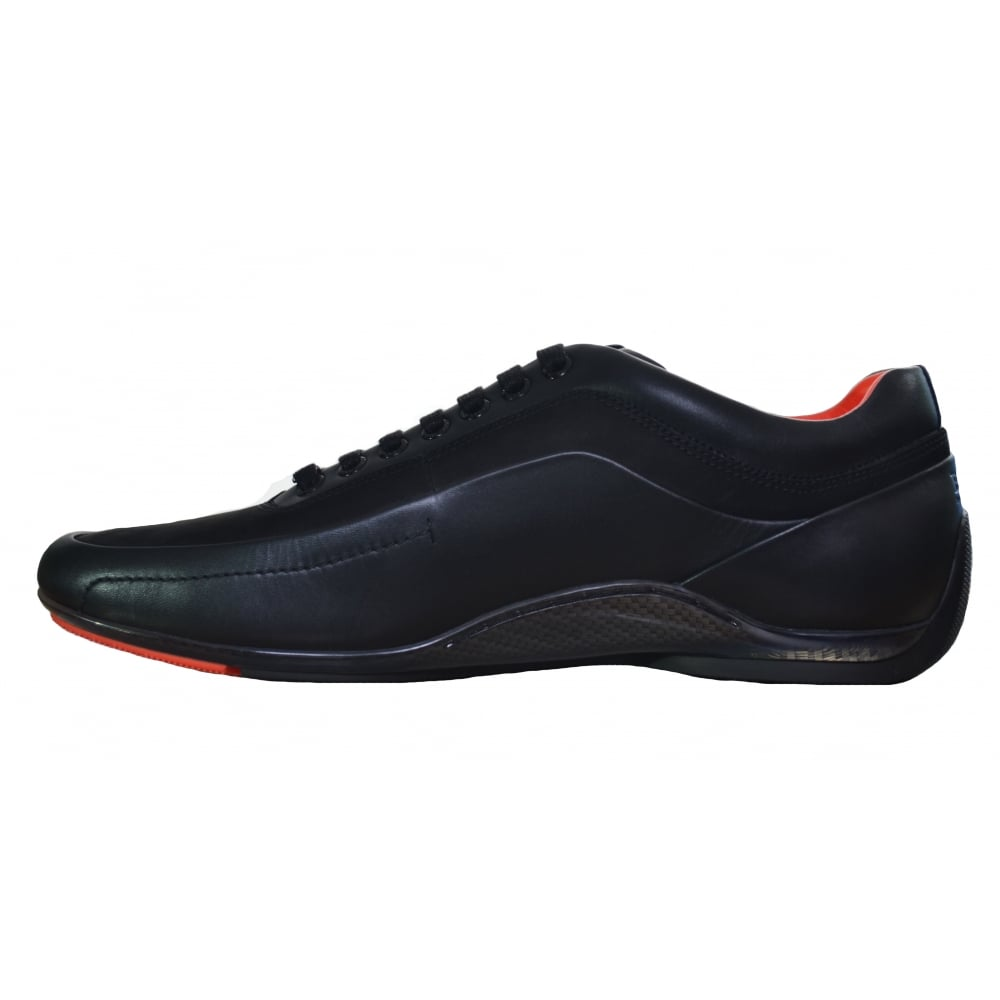 e3b8958bcf1 Hugo Boss Men  039 s Black HB Racing Trainers