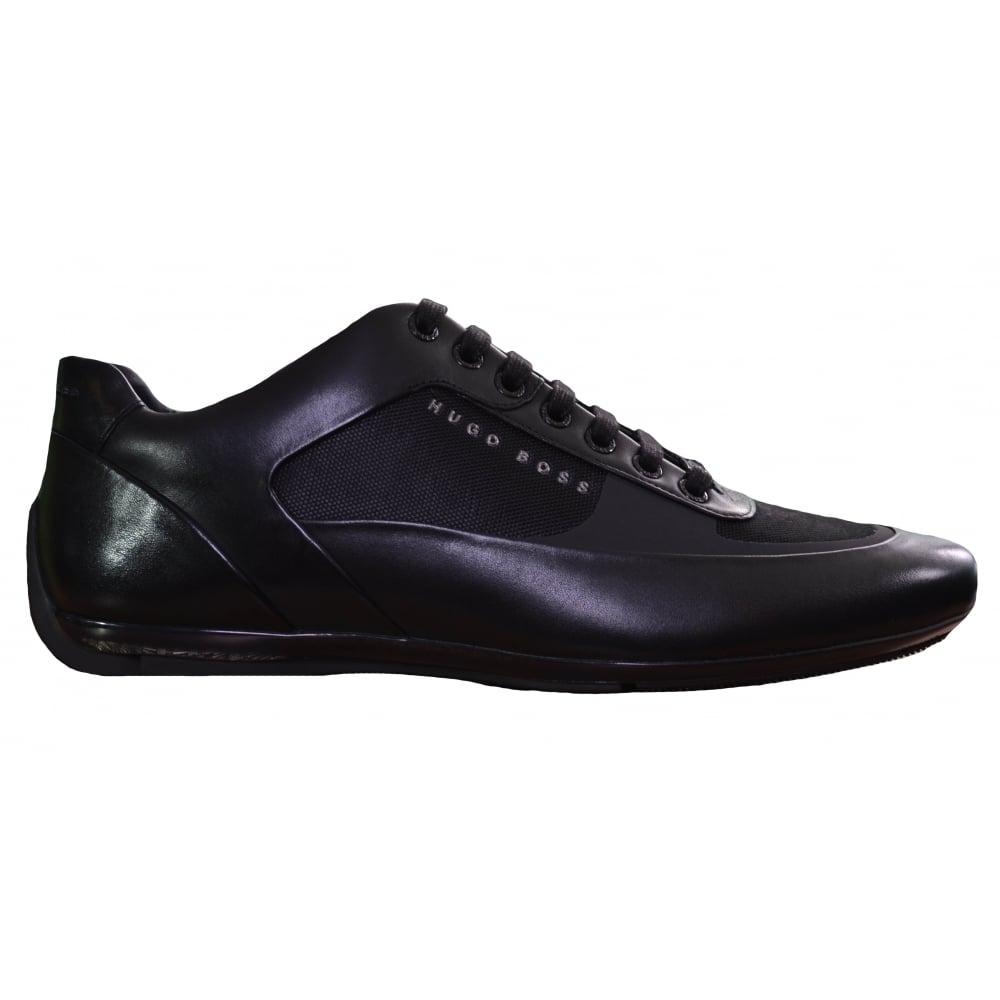 Mens Parkour_Runn_Knit Low-Top Sneakers, Black HUGO BOSS