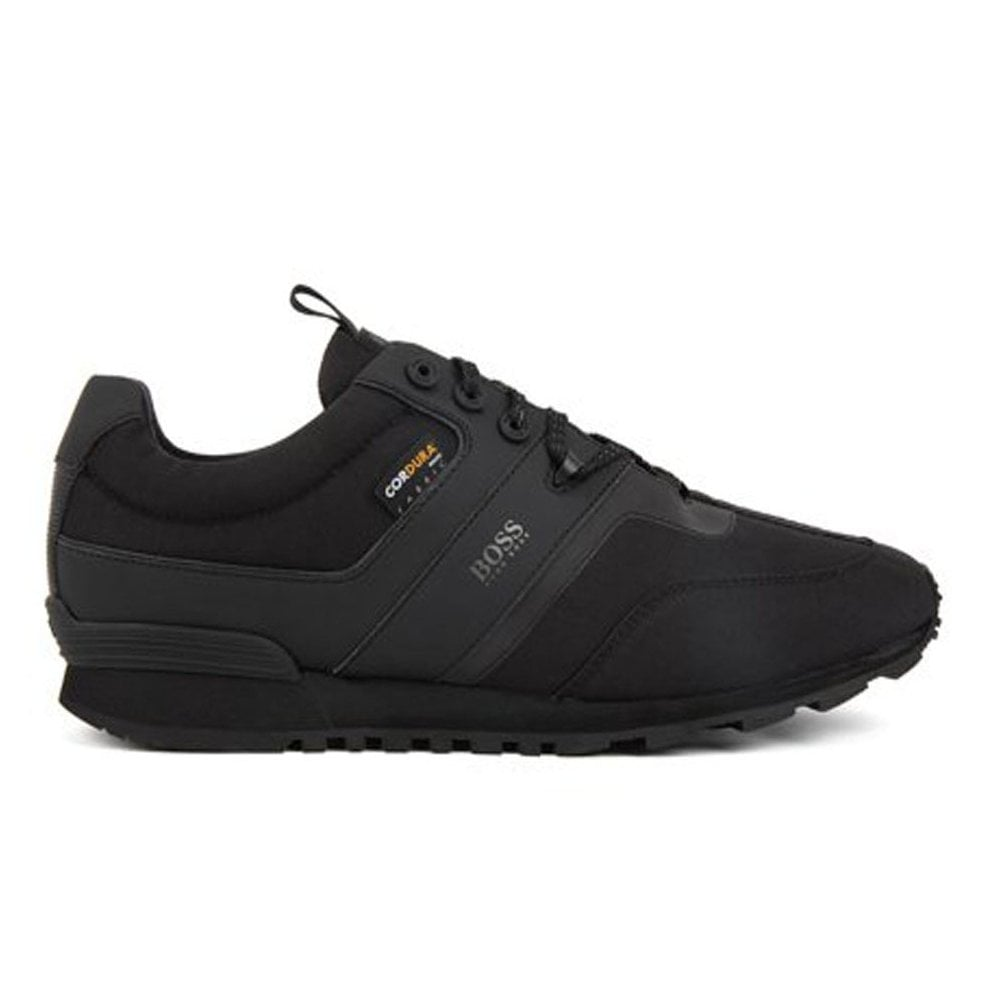 black parkour runn hybrid low-top trainers