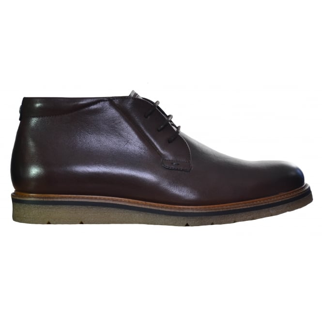 Hugo Boss Footwear Hugo Boss Men's Dark Brown Leather Tuned Boots