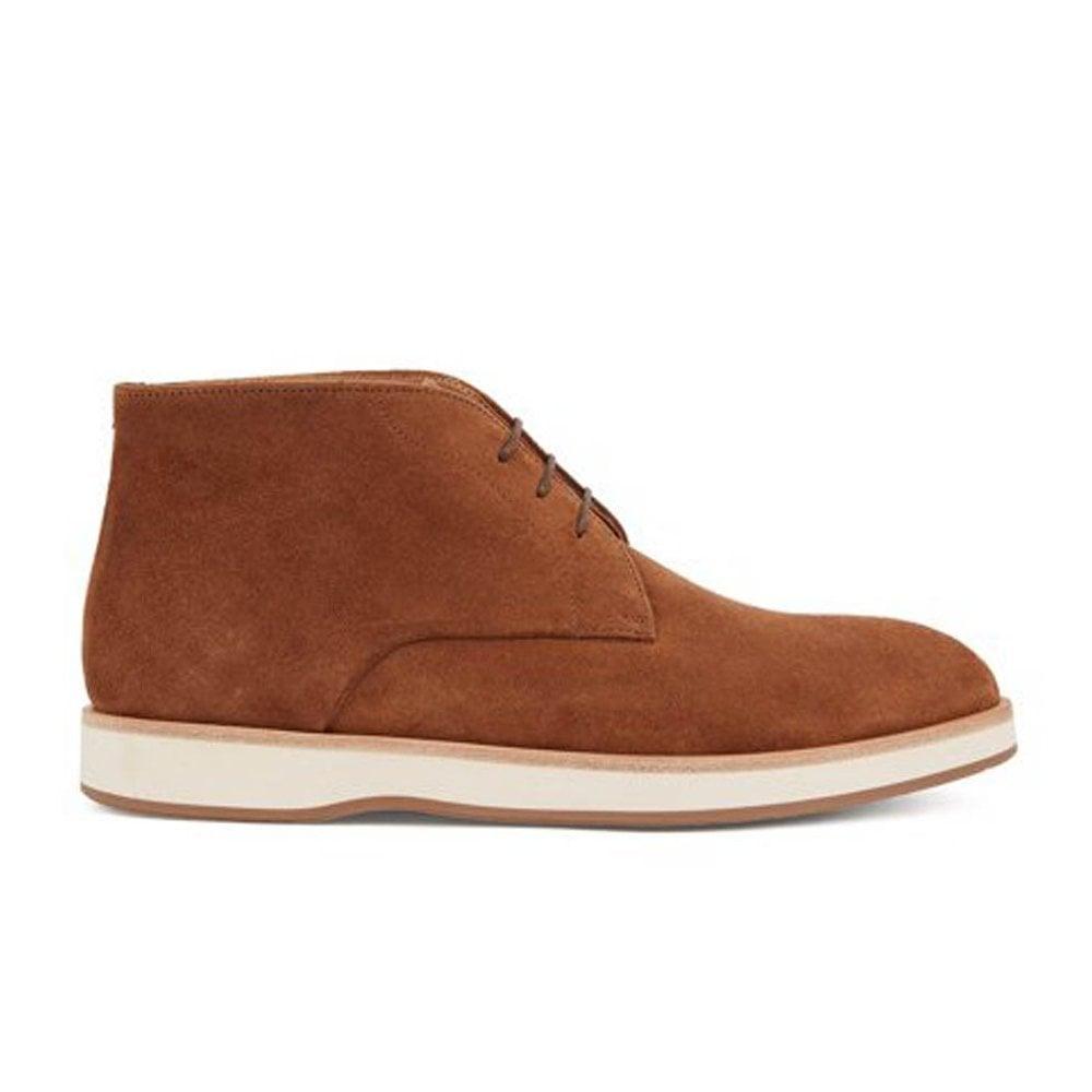 dark brown oracle desert suede boots