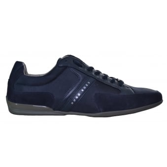 Hugo Boss Men's Navy Blue Spacit Trainers