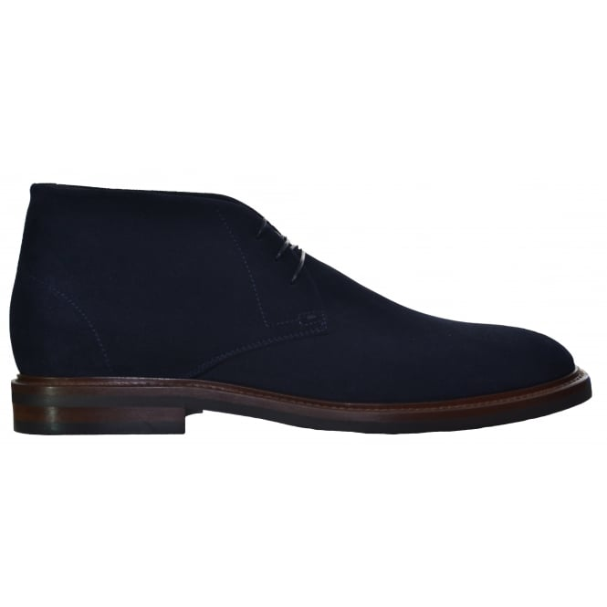 Hugo Boss Footwear Hugo Boss Men's Ocean_Desb_Sdpt Dark Blue Suede Boots