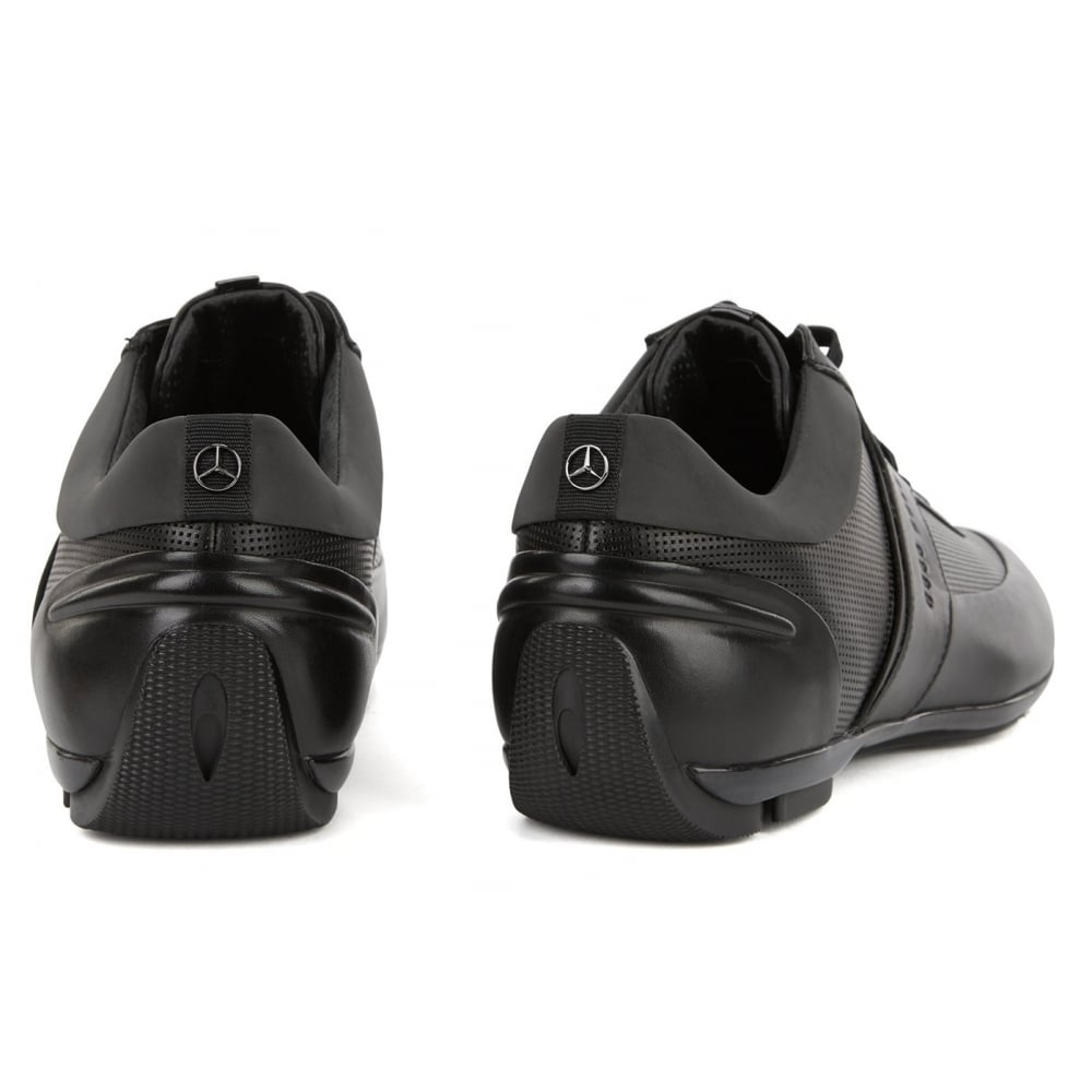 hugo boss trainers in leather and