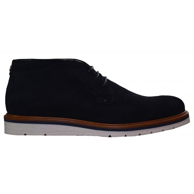 Hugo Boss Footwear Hugo Boss Orange Men's Dark Blue Suede Tuned_Desb Boots