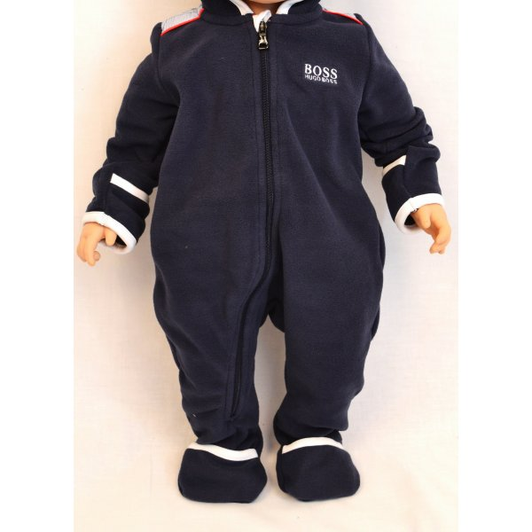 Babies Hugo Boss Navy Blue Fleece All in One 60c6e3528