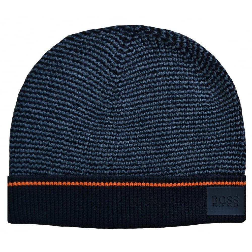 2279d8edaa3 hugo boss kids black and grey knitted hat