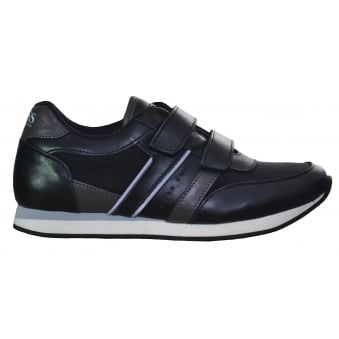 Hugo Boss Kids Black Velcro Trainers